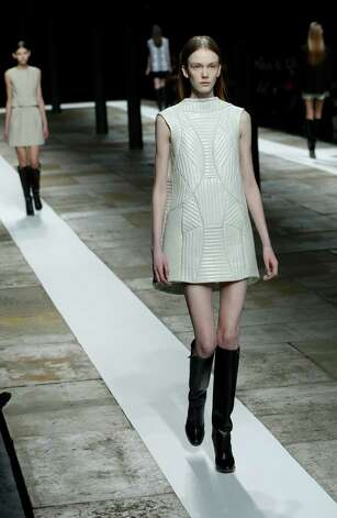 Models walk the runway during the Theyskens Theory Fall 2013 runway show at Fashion Week in New York, Monday, Feb. 11, 2013. Photo: Kathy Willens, Associated Press / AP
