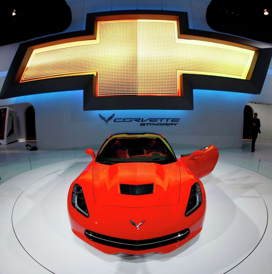 The 2014 Chevrolet Corvette Stingray is revealed at the Chicago Auto Show Thursday, Feb. 7, 2013, in Chicago. (AP Photo/Charles Rex Arbogast) Photo: Charles Rex Arbogast, Associated Press / AP