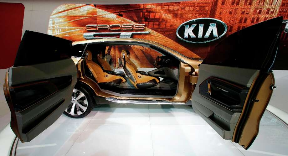 The interior of the Kia Cross GT Concept car is on display during the media preview of the Chicago Auto Show at McCormick Place in Chicago on Thursday, Feb. 7, 2013.  (AP photo/Nam Y. Huh) Photo: Nam Y. Huh, Associated Press / AP