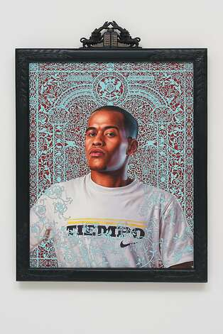 Kehinde Wiley, David Ayelin (The World Stage: Israel), 2011. Oil on canvas, 56 ⅞ x 41   in. (framed). Photo: Courtesy Of Roberts & Tilton