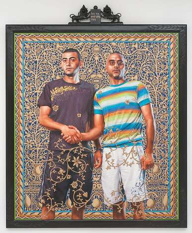 Kehinde Wiley painted proud Arab and Jewish men posed before stunningly intricate backdrops. Photo: Courtesy Of Roberts & Tilton