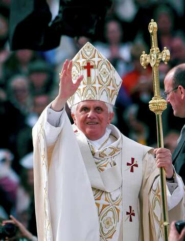 Pope Benedict XVI holds Mass at Yankee Stadium in New York, April 20, 2008. Citing advanced years and infirmity, Pope Benedict stunned the Roman Catholic world on Feb. 11, 2013 by saying that he would resign on Feb. 28 after less than eight years in office, the first pope to do so in six centuries. Photo: CHANG W. LEE, Chang W. Lee/The New York Times / Connecticut Post Contributed The New York Times via Associated Press