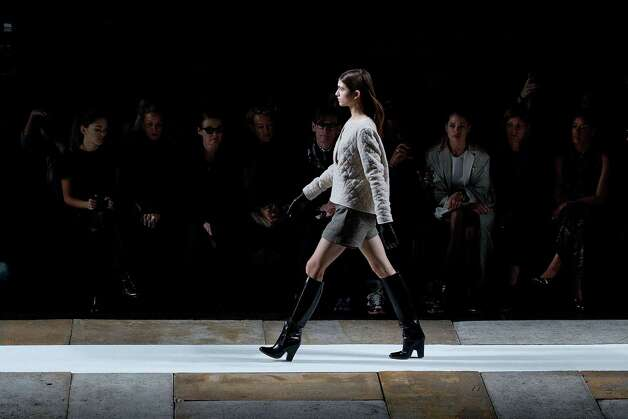 A model walks the runway at the Fall 2013 Theyskens' Theory Runway Show, on Monday, February 11, 2013, in New York.  Photo: Dario Cantatore, Associated Press / Invision