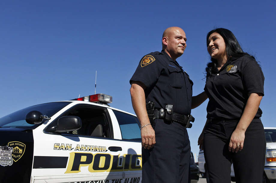 A reader commends the founder of Wives on Duty Ministries, Allison Urbe, shown here with her husband, officer Joe Uribe. Allison is also a San Antonio police auxiliary chaplain. Photo: Lisa Krantz, San Antonio Express-News