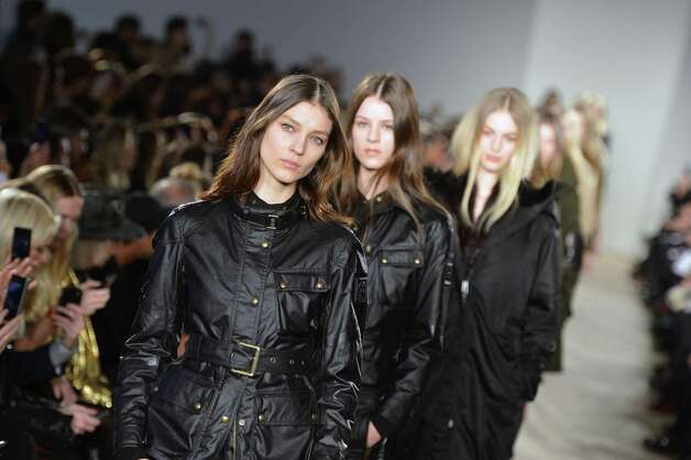 Models walk the runway at the Belstaff fall 2013 fashion show during Mercedes-Benz Fashion Week at IAC Headquarters on February 11, 2013 in New York City. Photo: Slaven Vlasic, Getty Images / 2013 Getty Images