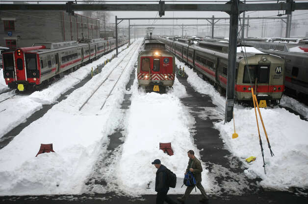 The snow covered Metro North railyards at Union Station in New Haven, Conn. on Monday, February 11, 2013 Photo: Brian A. Pounds / Connecticut Post