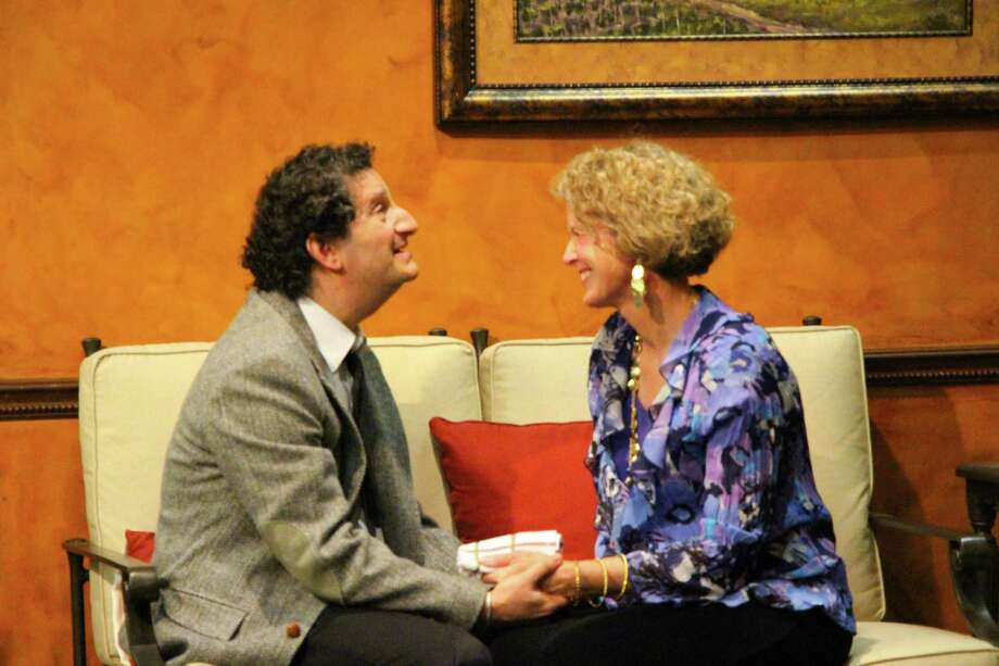 "Philip Kazen (from left) and Catherine Babbitt star in ""Chatper Two."" Courtesy Woodlawn Theatre Photo: Courtesy Woodlawn Theatre"