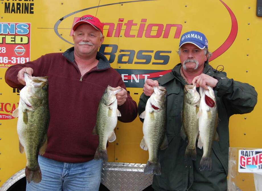 Taking the field by storm Alan Bond and Tommy Fredregill won 1st place with their 19.57 lb limit  Photo by Patty Lenderman, Lakecaster
