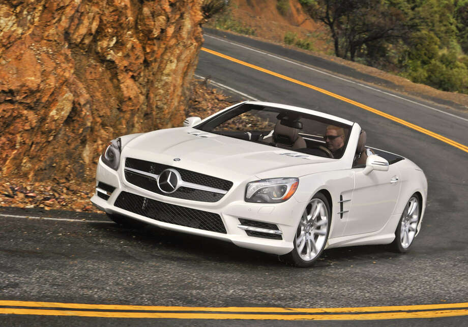 Now 275 pounds lighter, the 2013 Mercedes-Benz SL550 offers the first mass-produced aluminum structure on a Mercedes-Benz production car. Photo: Mercedes-Benz USA