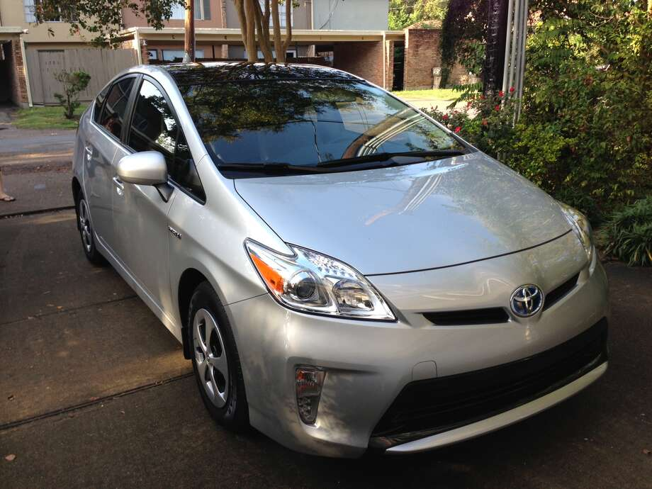 My wife's 2012 Prius model III. It replaced a 2002 Toyota Highlander that got about 16 MPG in the city.