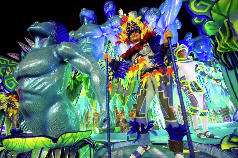 Members of  Portela Samba School parade at 2013 Brazilian Carnival at Sapuca Smbodrome on February 11; 2013 in Rio de Janeiro; Brazil.  Photo: Getty