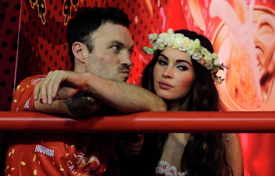 Fox and husband at the carnival parades at the Sambadrome. (AP Photo/Hassan Ammar) Photo: Multiple