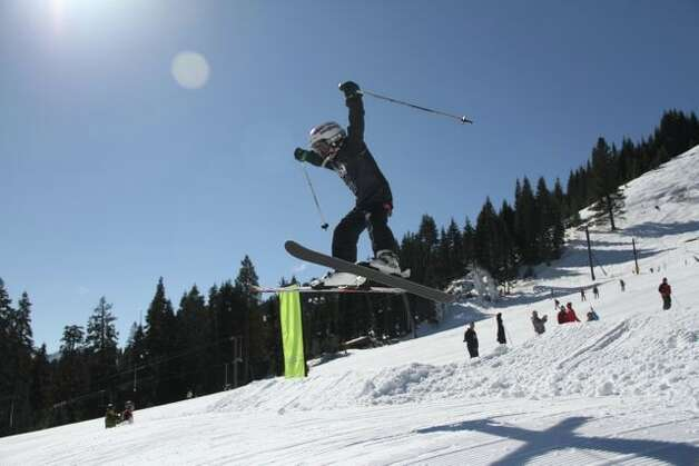 Here's one of the competitors in Snowbomb's Lil' Air contest. (Justin Dohms/Special to The Chronicle)