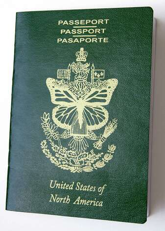 Artist Erika Harrsch created passports such as this one to a fictitious land called United States of North America, as part of her new exhibit at the Aldrich. The interactive exhibit raises questions about immigration and the policies regarding it. Photo: Contributed Photo