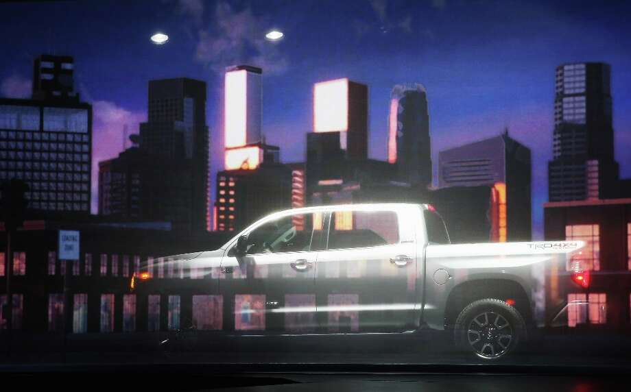 CHICAGO, IL - FEBRUARY 07:  Toyota introduces the 2014 Tundra pickup truck at the Chicago Auto Show on February 7, 2013 in Chicago, Illinois. The Chicago Auto Show, one of the oldest and largest in the country, will be open to the public February 9-18. Photo: Scott Olson, Getty Images / 2013 Getty Images