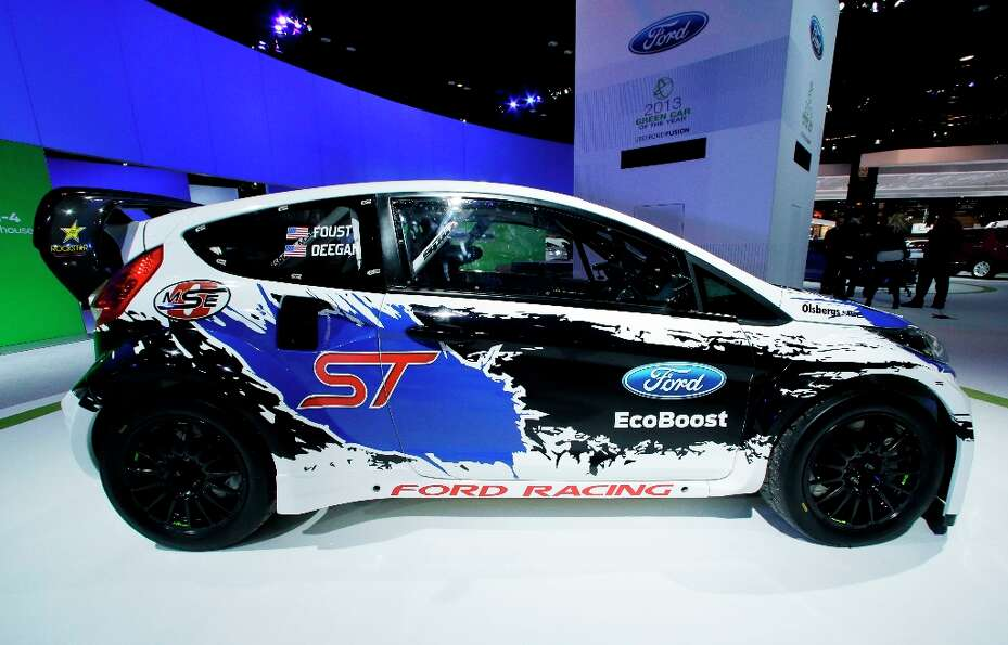 A Ford Fiesta ST  is on display during the media preview of the Chicago Auto Show at McCormick Place
