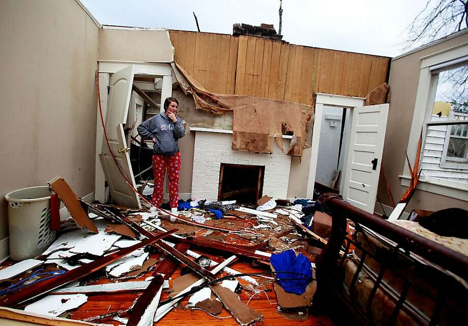 Jordon Williams' bedroom was rubble after a tornado destroyed hundreds of homes and injured more than 60 people. Photo: Sean Gardner, Getty Images