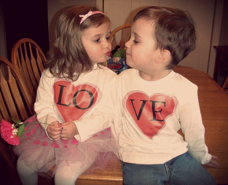 Two-year-old twins Brooklyn and Bentley Tucker from Hudson Falls are each other?s best friends ? and worst enemies ? but always love each other. And they have the shirts to prove it.  (Kristina Potter)