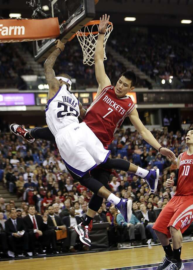"Former Warriors guard Jeremy Lin, taking on the Kings' Isaiah Thomas, says he's ""in a good place"" with the Rockets. Photo: Rich Pedroncelli, Associated Press"