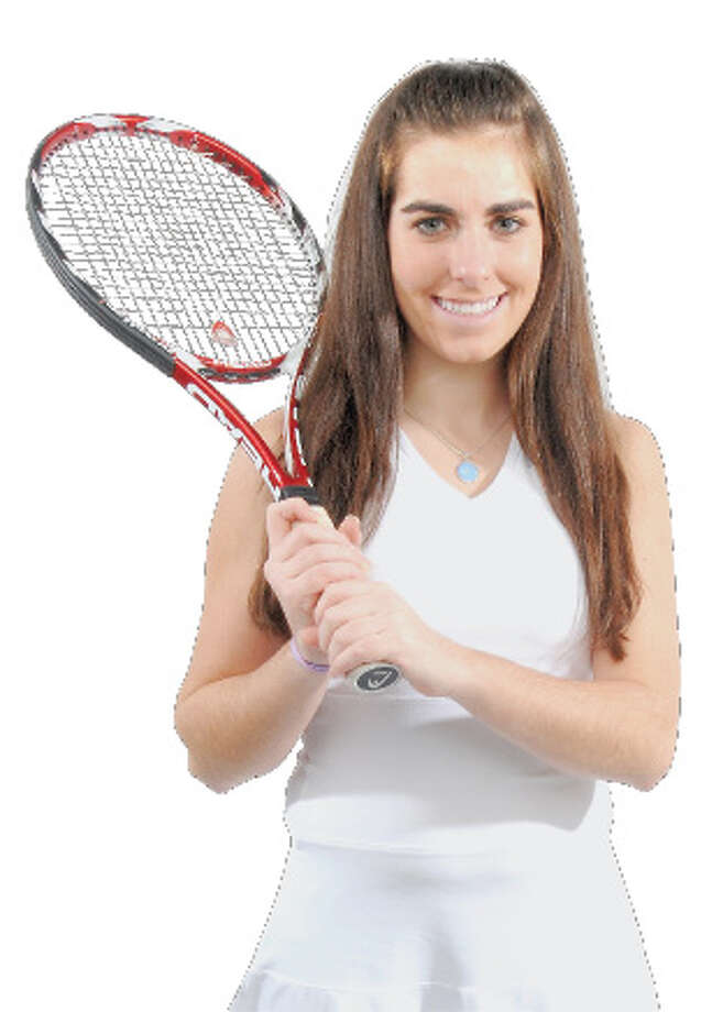 "Times Union Studio shot of Cathryn ""Cat"" Crummey, a soph Shaker High School Girls Tennis Player and the Times Union All - Area Large School Girls Tennis MVP, shot on Sunday, Dec. 6, 2009, in Albany, NY.   (Luanne M. Ferris / Times Union) Photo: LUANNE M. FERRIS"