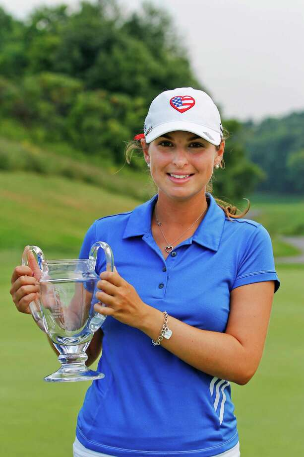 Jaclyn Sweeney of Bradenton, Fla., captures her first Symetra Tour victory with a score of 3 under par on the final round to win the Credit Union Challenge at Capital Hills Golf Course, Sunday Aug. 5, 2012 in Albany, N.Y. (Dan Little/Special to the Times Union) Photo: Dan Little / Dan Little