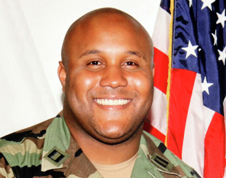 This undated photo released by the Los Angeles Police Department shows suspect Christopher Dorner, a former Los Angeles officer. Seeking leads in a massive manhunt, Los Angeles authorities on Sunday put up a $1 million reward for information leading to the arrest of Christopher Dorner, the former Los Angeles police officer suspected in three killings. (AP Photo/Los Angeles Police Department) Photo: Uncredited, HOPD / Los Angeles Police
