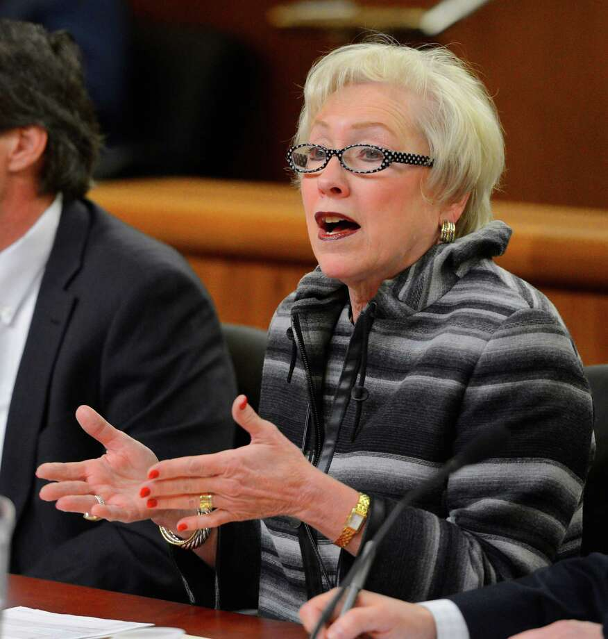 State University of New York chancellor Nancy L. Zimpher testifies during a joint legislative hearing on the State Budget - Higher Education Monday  morning, Feb. 11, 2013, in the Legislative Office Building in Albany, N.Y.   (Skip Dickstein/Times Union) Photo: SKIP DICKSTEIN / 00021108A