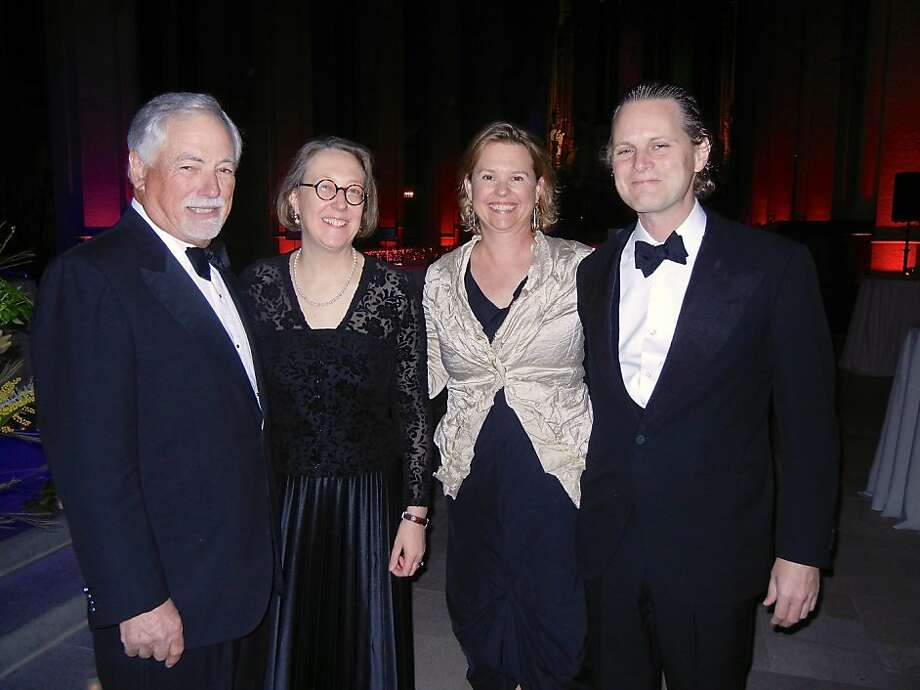 Mark Buell (left) with Jane Shaw, dean of Grace Cathedral; Eliza Brown; and Owsley Brown. Photo: Catherine Bigelow, Special To The Chronicle