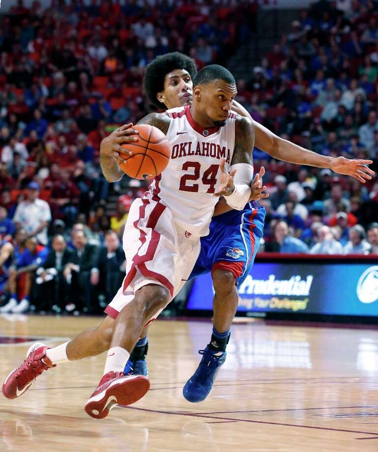 4. Oklahoma  (15-7, 6-4) — The Sooners' resume for the NCAA tournament looks much more solid after topping Kansas on Saturday. Photo: Sue Ogrocki, Associated Press / AP