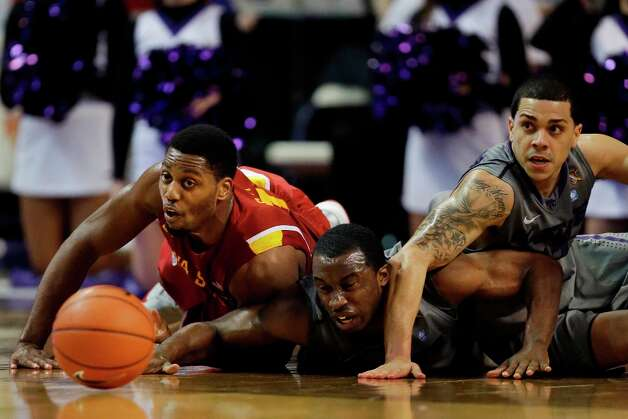 5. Iowa State (16-7, 6-4) — Turnovers doom the Cyclones' upset hopes in Manhattan last week. Photo: Orlin Wagner, Associated Press / AP