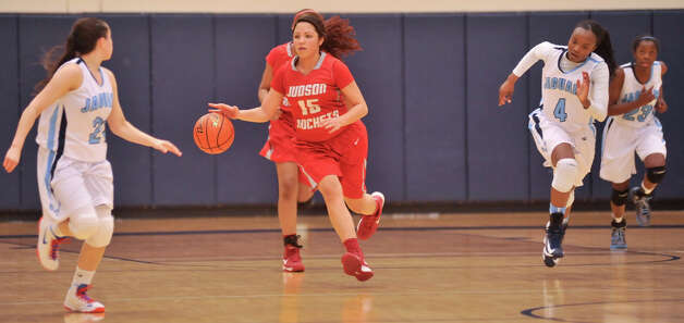 Judson's LaJeah Rice pushes the ball up the floor during their District 5A game versus Johnson Monday night. Photo: Robin Jerstad, Robin Jerstad / For The Express-News