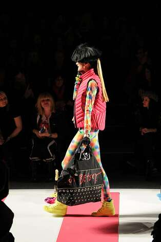 NEW YORK, NY - FEBRUARY 11:  A model walks the runway at Betsey Johnson Fall 2013 fashion show during Fall 2013 Mercedes-Benz Fashion Week at Lincoln Center for the Performing Arts on February 11, 2013 in New York City.  (Photo by Bryan Bedder/Getty Images for Mercedes-Benz Fashion Week) Photo: Bryan Bedder, (Credit Too Long, See Caption)