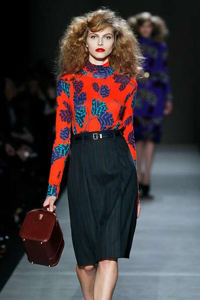 NEW YORK, NY - FEBRUARY 11:  A model walks the runway at the Marc By Marc Jacobs Fall 2013 fashion s