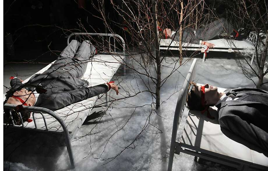 The Thom Browne Fall 2013 collection is modeled during Fashion Week, Monday, Feb. 11, 2013, in New York. (AP Photo/Louis Lanzano) Photo: Louis Lanzano, Associated Press