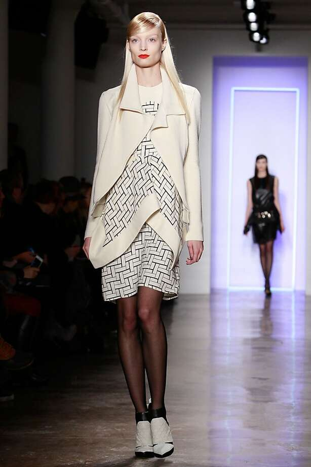 NEW YORK, NY - FEBRUARY 11:  A model walks the runway at the Ohne Titel fall 2013 fashion show during MADE Fashion Week at Milk Studios on February 11, 2013 in New York City.  (Photo by Mark Von Holden/Getty Images) Photo: Mark Von Holden, Getty Images