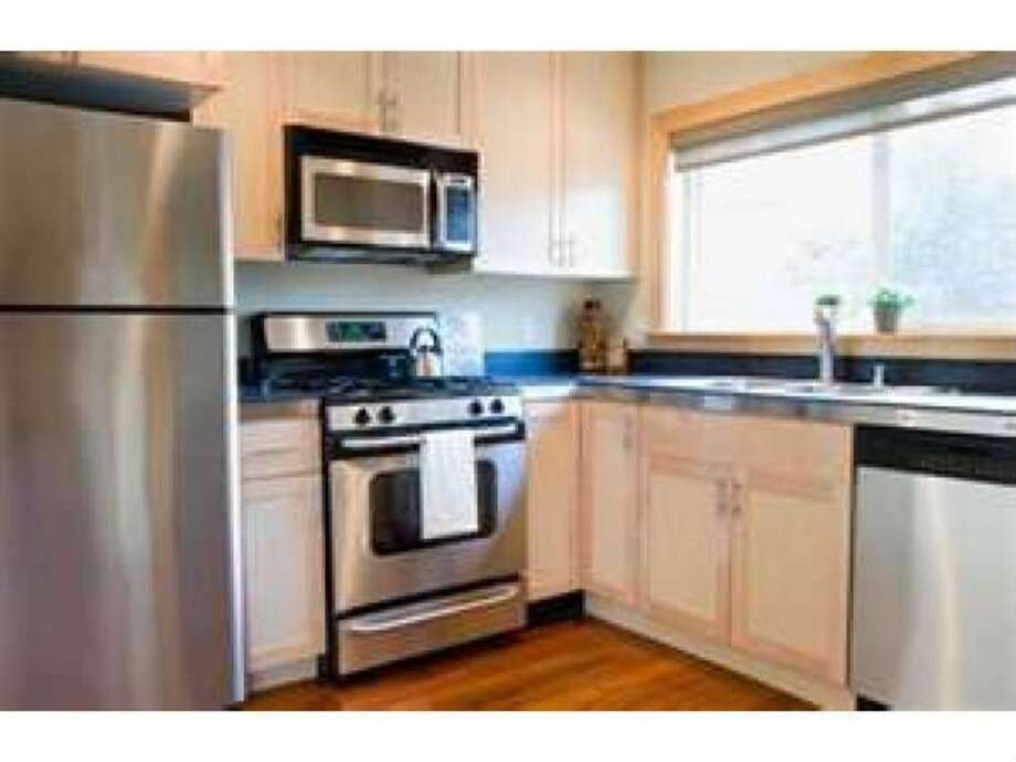 The Turk St. apartment has a nice kitchen for when you want to cook for your date at home.