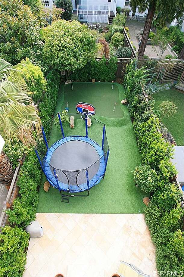 And really, what is more romantic than a backyard trampoline and mini golf course?