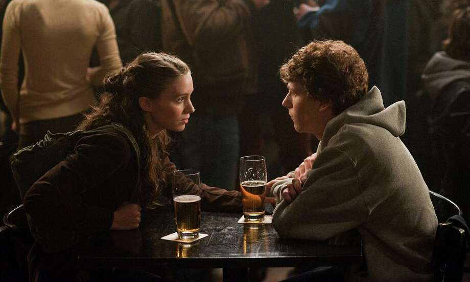 MOST OF THE WOMEN in THE SOCIAL NETWORK (2010): While there was a real Mark Zuckerberg, Sean Parker and Winklevoss twins, characters like angry ex-girlfriend Erika Albright (Rooney Mara, left) and Zuckerberg acquaintance Christy Lee were at best renamed to protect the innocent. Photo: Merrick Morton, Columbia Pictures / SFC