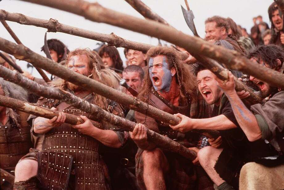 ALL OF WILLIAM WALLACE'S FRIENDS in BRAVEHEART (1995): While Wallace was real, this movie is only a little more accurate than Star Wars. Wallace wasn't poor, he didn't impregnate the future queen (she was a toddler when he died) and all of his cool friends were cinematic inventions. Photo: ANDREW COOPER, Associated Press / FILES