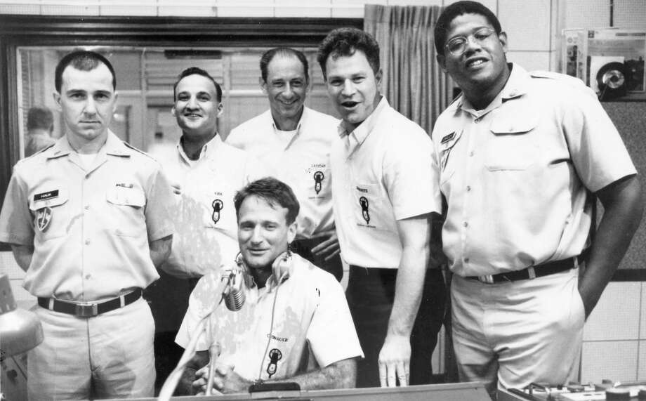 EVERYONE EXCEPT ADRIAN CRONAUER in GOOD MORNING, VIETNAM (1987): Notice a trend here. If Williams or Gibson are in the film, assume it's mostly fake. This story was almost entirely fiction -- including the Forest Whitaker and Bruno Kirby characters, and Vietnamese love interest. Photo: Buena Vista Pictures / ONLINE_YES