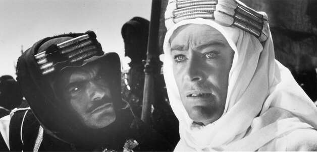 SHERIF ALI IBN EL KHARISH in LAWRENCE OF ARABIA (1962): Sherif Ali is the most prominent of several composite characters in the David Lean epic (which is such a great film that we really don't care). Omar Sharif represents a combination of Arab leaders who served with T.E. Lawrence. Photo: Columbia Pictures / ONLINE_YES