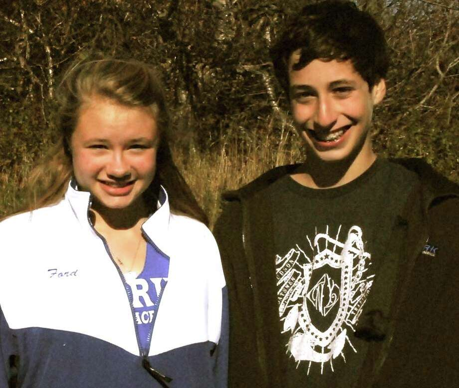 "Alexandra Ford, left, a Darien High School junior, will run a half-marathon in honor of her friend, Victor ""Andy"" Andres Pena, right, who died at the age of 14 in March 2012 from undiagnosed myocarditis. Photo: Contributed"