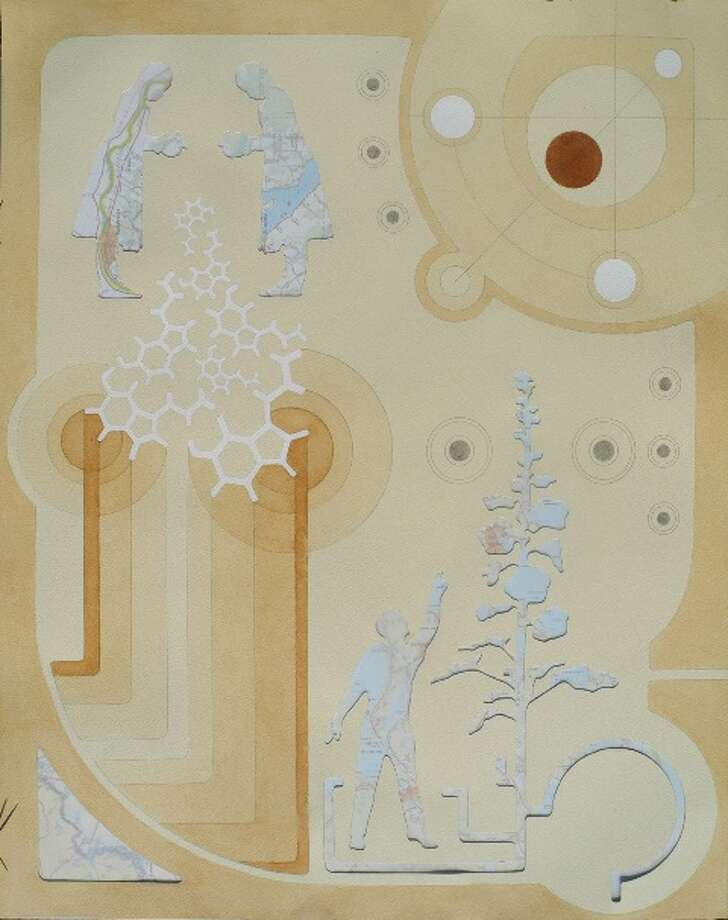 """Honorable mention: """"Coincidentia Oppositorum"""" by Chris Escobar of Albany, mixed media (Albany Center Gallery)"""