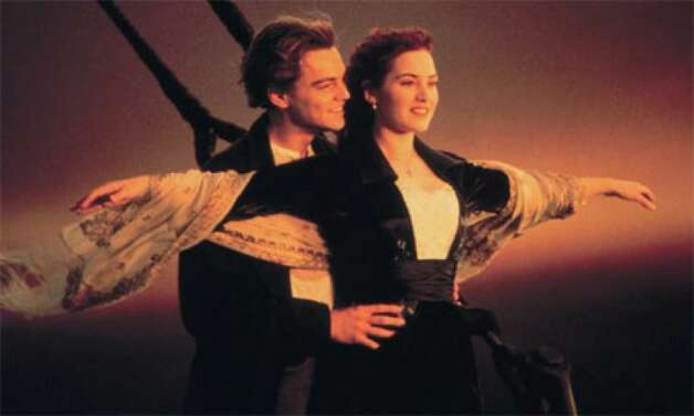 ROSE AND JACK from TITANIC (1997): The unsinkable Molly Brown and several other characters were based on real people. But the central figures played by Leonardo DiCaprio and Kate Winslet (and that stupid necklace) were invented for this mostly fictionalized account of the Titanic sinking.