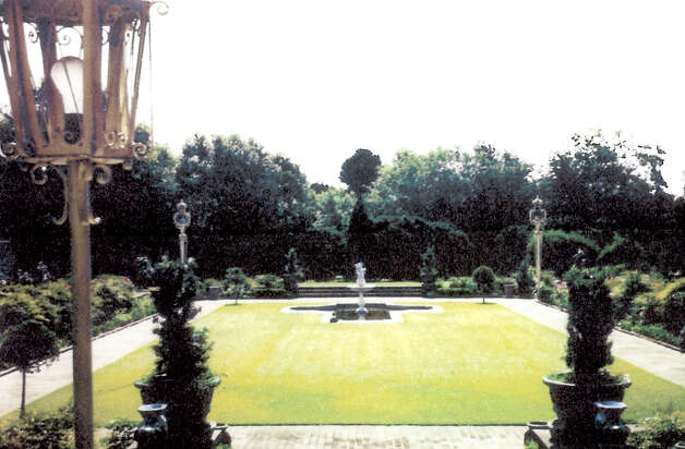 The East Garden at Phelan Mansion looking outward toward present day 11th Street. The Magnolia Garden Club is working with Christus-St. Elizabeth to restore the garden to its former 1930s state. Photo: Courtesy