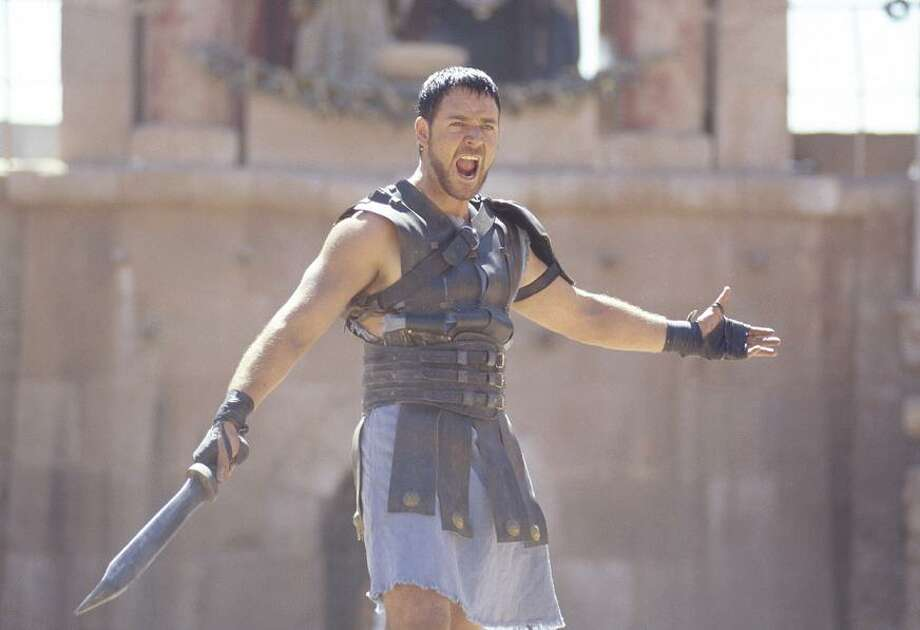 MAXIMUS (GLADIATOR, 2000): Are you not entertained? I shouldn't include this one. The filmmakers didn't seem to be aspiring to accuracy. Still, there may be a kid out there hoping to write a book report ... Commodus and Lucilla were part of Roman history, but Maximus Decimus Meridius didn't exist. Photo: HANDOUT, SFC / CHRONICLE