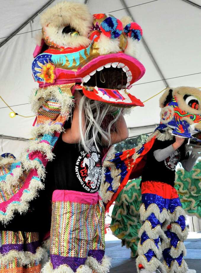 A member of the San Antonio Lion Dance Association at the 2012 edition of the Asian Festival at the Institute of Texan Cultures. Photo: Institute Of Texan Cultures