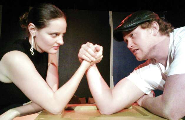 "Dasha Voronyak (from left) and Jon Smith appear in ""Cupid"" at the Rose Theatre Company. Courtesy Chris Manley Photo: Courtesy Chris Manley"
