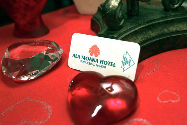 The key card from a hotel where a new valentine was met rests on a table as Pat Breheny tells her Valentine's Day story. Photo: Tom Reel, San Antonio Express-News / ©2012 San Antono Express-News