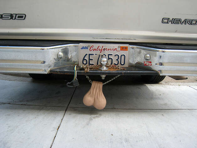 Truck nuts: Some people might find this a funny accessory to install on their truck, but it probably won't win you any fans on the road. You can add other absurd trailer hitch accessories, including the stripper pool and toilet, to this item too.